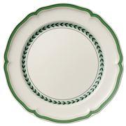 V&B - French Garden Green Line Flat Plate 26cm