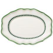 V&B - French Garden Green Line Oval Platter