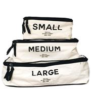 Bag All - Packing Cubes White Set 3pce