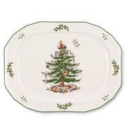 Spode - Christmas Tree Scuplted Oval Platter