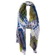 DLUX - Teal Dixon Georgette Print Silk Wrap