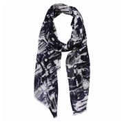 DLUX - Electra Squiggle Navy Print Scarf