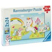 Ravensburger - Fairytale Unicorn Puzzle 2x24pce
