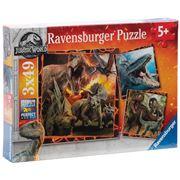Ravensburger - Jurassic World Instinct To Hunt 3x49pce
