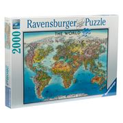 Ravensburger - World Map Puzzle 2000pce