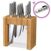 Global - Ikasu X 10pce Knife Block Set w/ Bonus Sharpener