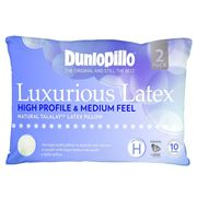 Dunlopillo - Luxurious Latex High Profile & Med. Pillow 2pce