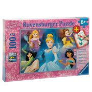 Ravensburger - Disney Princess Puzzle W/Colouring Page 100pc