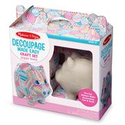 Melissa & Doug - Decoupage Made Easy Piggy Bank Craft Set