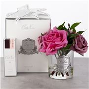 Cote Noire - Rose Bouquet in Clear Glass w/Spray 3pce