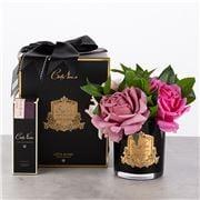 Cote Noire - Rose Bouquet in Black Glass w/Spray 3pce