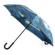Galleria - Reverse Close Umbrella Van Gogh Starry Night