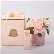 Cote Noire - Herringbone Pink Roses Scent Pink Vase