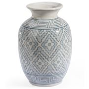 Florabelle - Paisley Vase Light Blue and White