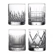 Waterford - Short Stories Double Old Fashioned Set Mixed 4pc
