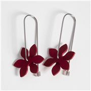 Fink - Earrings Propeller Pointed Red