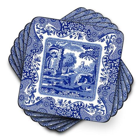 NEW Pimpernel Blue Italian Napkin Set 4pce