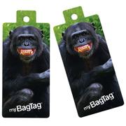 MyBagTag - Chimpanzee Luggage Tag Set 2pce