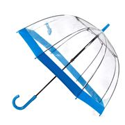 Clifton - Birdcage Umbrella with Blue Border