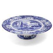 Spode - Blue Italian Footed Cake Plate