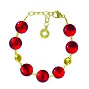 Antica Murrina - Frida Red Gold Murano Bracelet