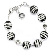 Antica Murrina - Frida Black Silver Murano Bracelet
