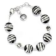 Antica Murrina - Frida Black Silver Murano Bracelet