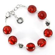 Antica Murrina - Frida Red Silver Murano Bracelet