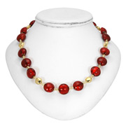 Antica Murrina - Frida Red Gold Murano Necklace