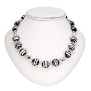 Antica Murrina - Frida Black Silver Murano Necklace