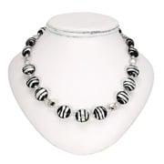 Antica Murrina - Frida Black Silver Murano Necklace
