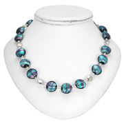 Antica Murrina - Frida Silver Purple Green Murano Necklace