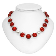Antica Murrina - Frida Red Silver Murano Necklace