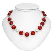 Antica Murrina - Frida Red Silver Murano Necklace