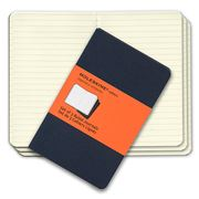 Moleskine - Cahier Pocket Ruled Navy Notebook Set 3pce