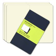 Moleskine - Cahier Pocket Plain Navy Notebook Set 3pce