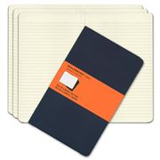 Moleskine - Cahier Large Navy Ruled Notebook Set 3pce