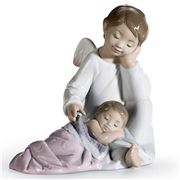 Lladro - My Guardian Angel Pink Figurine