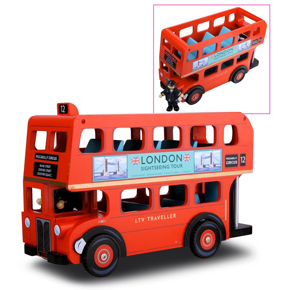 Le Toy Van London Bus With Driver Peters Of Kensington