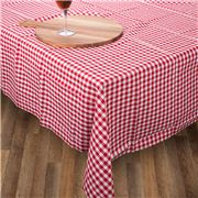 Rans - Gingham Tablecloth Red Medium