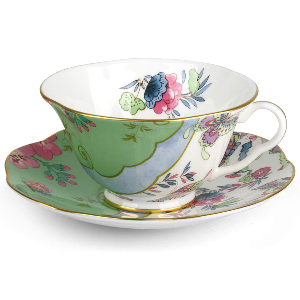 Wedgwood Butterfly Bloom Teacup Amp Saucer Green Peter S
