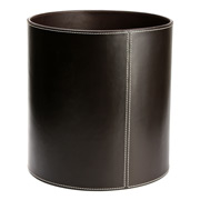 Redd Leather - Leather Rubbish Bin Round Chocolate