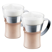 Bodum - Assam Coffee Glass w/ Steel Handle Large Set 2pce