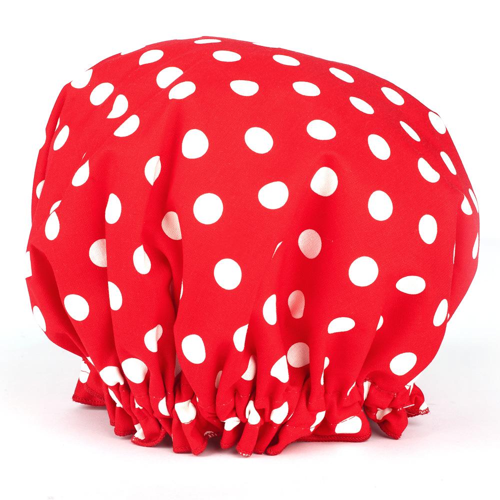 At Polka Dot Red Shower Cap Peter S Of Kensington