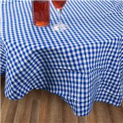 Rans - Gingham Round Tablecloth Blue 180cm