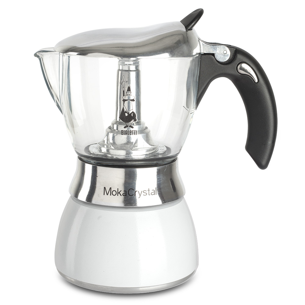 Bialetti Coffee Maker Debenhams : Bialetti - Moka Crystal Espresso Maker White 4 Cup