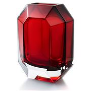 Baccarat - Octogone Vase Red