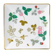 Wedgwood - Wild Strawberry Gold Square Tray