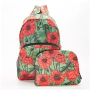 Eco-Chic - Foldable Backpack Poppies Green