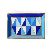 Jonathan Adler - Sorrento Rectangle Tray Blue & Gold